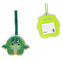 Okiedog Wildpack Luggage Tag Dragon Color Green