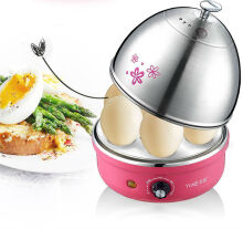 Jantens Stainless Steel Egg Boiler Creative Eggs Cooking Automatic Steam Egg Boiler Pink