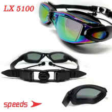 Kacamata Renang Dewasa Speeds LX 5100 Mirrored Anti Fog UV + Earplug