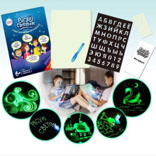 [LESHP] Fluorescent Drawing Sketchpad Kids Graffiti Drawing Board Puzzle Drawing Toy random