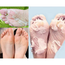 Farfi Milk Bamboo Vinegar Dead Skin Remove Foot Skin Smooth Exfoliating Feet Mask as the pictures