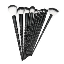TOWER PRO 10PCS/SET Spiral Design Plastic Handle Beauty Makeup Brushes Cosmetic Brush
