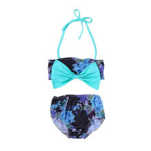 Farfi Summer Infant Baby Girl Swimwear Bowknot Swimsuit Swimming Strap Top Short Pants