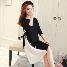 Anamode Elegant Women Dresses Loose Ham Cover Belly Clothing Pregnant Customes -