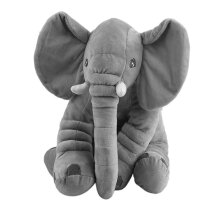 [kingstore] Stuffed Animal Cushion Kids Baby Sleeping Soft Pillow Toy Cute Elephant Cotton Grey  50x60cm