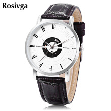 Rosivga 831 Unisex Quartz Luminous Pointer Daily Water Resistance Wristwatch