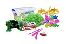 Kaptenstore Mainan Edukasi Pasir Kinetik 3D Space Sand Animal Zoo
