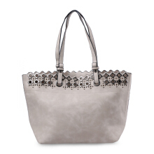 HUER Rave Eyelets Tote Bag 9475-001 Grey