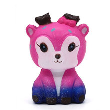 [kingstore] Kawaii Cartoon Deer Squishy Slow Rising Cream Scented Stress Reliever Toy Pink