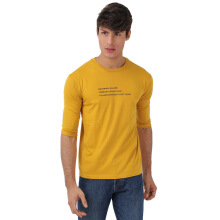 FACTORY OUTLET UG1802-0009 Mens T-Shirt With Print - Yellow - [S]