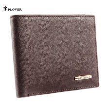 [LESHP]PLOVER GD5923-6B Men Business Short Clutch Wallet Soft Cow Leather Brown