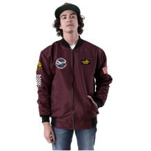 G-SHOP - MEN SWEATER JAKET HOODIES DISTRO PRIA - JAK 1337 - MARUN SIZE- M