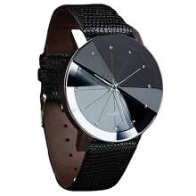 Farfi Men Luxury Stainless Steel Quartz Sport Faux Leather Band Wrist Watch as the pictures