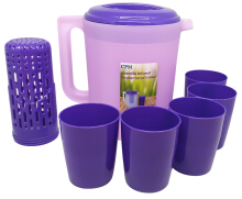 Annabelle Jug Infused Set Plus 5 Glass Purple