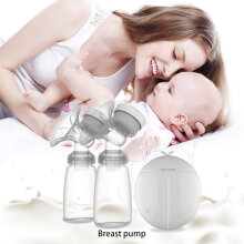 [OUTAD] Powerful Automatic Free Breast Pump Nipple Suction Breast Electric Breast Pump White