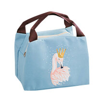 [COZIME] Flamingos Lunch Bag Oxford Cloth Zip Portable Takeaway Pack