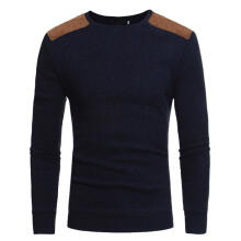 Farfi Men Winter Knitted Sweater Casual Pullover Round Neck Long Sleeve Slim Top