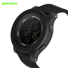 2018 SANDA Fashion Digital Watch Men Top Brand Luxury  Wrist Watches Student Waterproof Watches