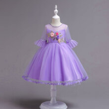 Middle Sleeve Baby Girls Princess Lace Dress Princess Baby Girl Party Dress 140CM