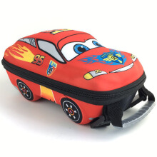 BL Little Car Rucksacks Children 3D Cartoon School Bags Kids Backpack -OneSize-Red