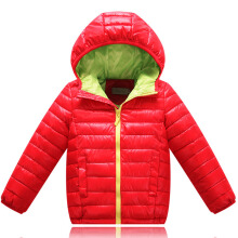 Anamode Boys Girls Winter Coat Duck Down Jacket Children Feather Coat With Hooded -Red