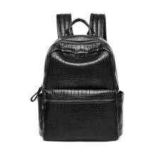 [LESHP]Fashion Backpack Waterproof Large Capacity Travel School Bag For Female Black