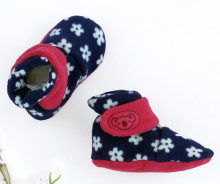 CUDDLE ME Booties - Flower Navy