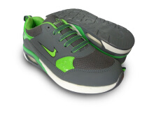 RECORD Air Pro Sepatu Men Running Shoes Abu Tua/ Hijau Neon