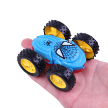 Jantens 2Pcs / Cool double-sided dump truck inertia car 360 rotation resistance off children fashion gift Blue