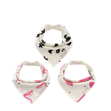 Keymao cotton newborn baby bib waterproof bib fabric girl doll baby scarf children triangle cotton turban