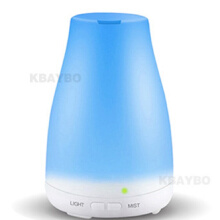 Jantens Ultrasonic Humidifier Aromatherapy Oil Diffuser Cool Mist With Color LED Lights WHITE