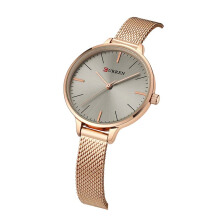 CURREN Casual women watches top luxury brand slim gold silver mesh quartz watch elegant ladies wristwatch