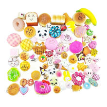 Farfi Soft Mini Squishy Bread Doughnut Squeeze Stress Relieve Decompression Toy Random Color&Pattern