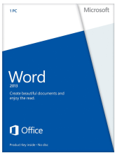Microsoft Word 2013 With Disc Retail Box