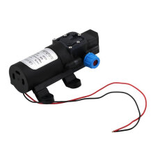 [kingstore]DC 12V 30W 3L/min Diaphragm Water Pump Self-Priming Built-in Check Valve Black Black