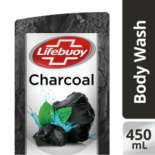 LIFEBUOY Body Wash Charcoal Refill 450ml