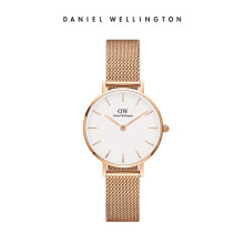 Daniel Wellington Petite Mesh Watch Melrose White Eggshell White 28mm
