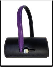 ZUSI Halo Fashion Special Round Shoulder Bag - Black&Purple