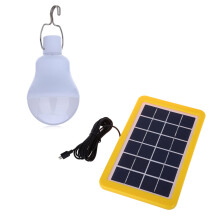 4W LED Solar Powered Lamp Home Camping Tent Light  - White