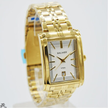 Balmer Jam Tangan Pria - D30H360BLM7971MGLD - Analog Date - Stainless Steel - Gold Gold