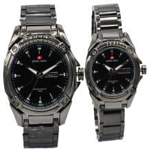 Swiss Army Original Couple Daydate Chain Metal Solid Sa755 Black