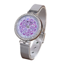 Quartz watches Men's Watch Women Watches Lady Fashion Stainless Steel Strap Quartz Watch With Rhinestone