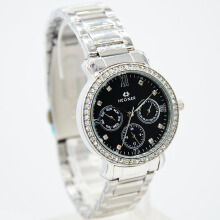 Hegner Stainless Steel Ladies 5023-1LS-320D31SLHT Chronograph Silver Hitam Grey