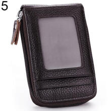 Farfi Men's Women's Fashion Mini Faux Leather Wallet ID Credit Cards Holder Organizer Purse