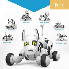 BLINGO 9007A Electronic Pet Intelligent Dog Robot Toy 2.4G Smart Wireless Talking Remote Control Kids Gift For Birthday White