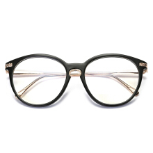 Jantens Anti Blue Ray Oval Eyeglasses Brand Designer Women Man Unisex Eyeglass Frames For Female Male Black