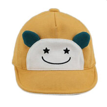 [OUTAD] Cute Children Baseball Cap Embroidered Hello Letters Fashion Visor Hat Yellow