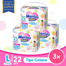 [BUY 2 GET 1 FREE] MERRIES Premium Popok Pants L - 22