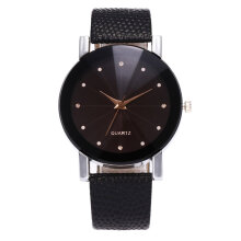Quartz watches  Lover Wrist Watch Leather Wristband  Movement  Hitam