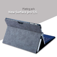 Ins F-1 German technogy PU artificial leather Hard Core sheer Microsoft New surface pro 5/6 protective cover-Plating Grey